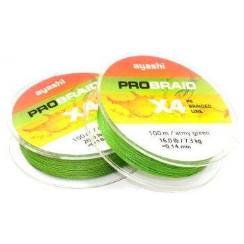 Плетёный шнур Ayashi Pro Braid-X4 100м 0,10мм army green