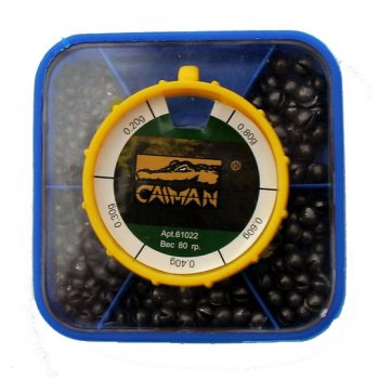 Набор грузил Caiman дробинка маленькая коробка 0.17-0.80 гр 61023