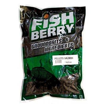 Пеллетс рыболовный медленно растворимый Fishberry темный 8 мм 1 кг