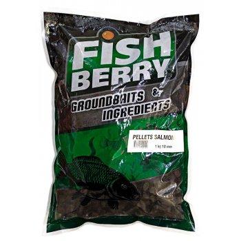 Пеллетс рыболовный медленно растворимый Fishberry темный 10 мм 1 кг