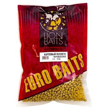 Пеллетс карповый LION BAITS Carp pellets Тигровый орех (желтый) 6 мм 1 кг