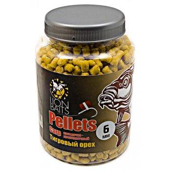 Пеллетс карповый LION BAITS Carp pellets Тигровый орех (желтый) 6 мм 300 гр